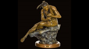 The Serenade - Native American Sculpture by Jeff Wolf