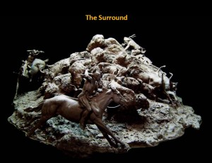 The Surround - Western Buffalo Hunting Scene Sculpture