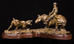 When One Becomes Legend - Western Sculpture by Jeff Wolf