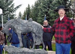 Jeff Wolf Commissioned Sculpture for Huntsville Utah