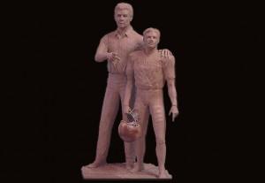Football Sculpture by Artist Jeff Wolf