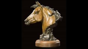 The All American - Quarter Horse Sculpture by Jeff Wolf