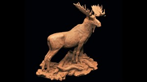 King of the Madison - Moose Sculpture by Jeff Wolf