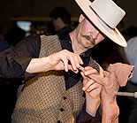 Live Sculpting by Jeff Wolf