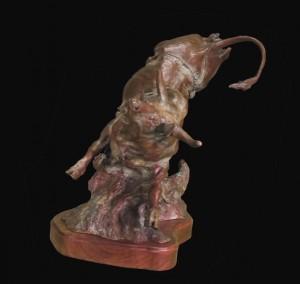 Power Beyond Control - Bronze Sculpture by Jeff Wolf